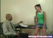 PLaatje van Schoolmeisje geneukt door een negerlul