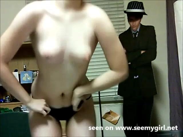 PLaatje van Schattig webcam meisje danst striptease